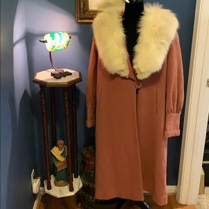 Vintage Fur Collar Coat